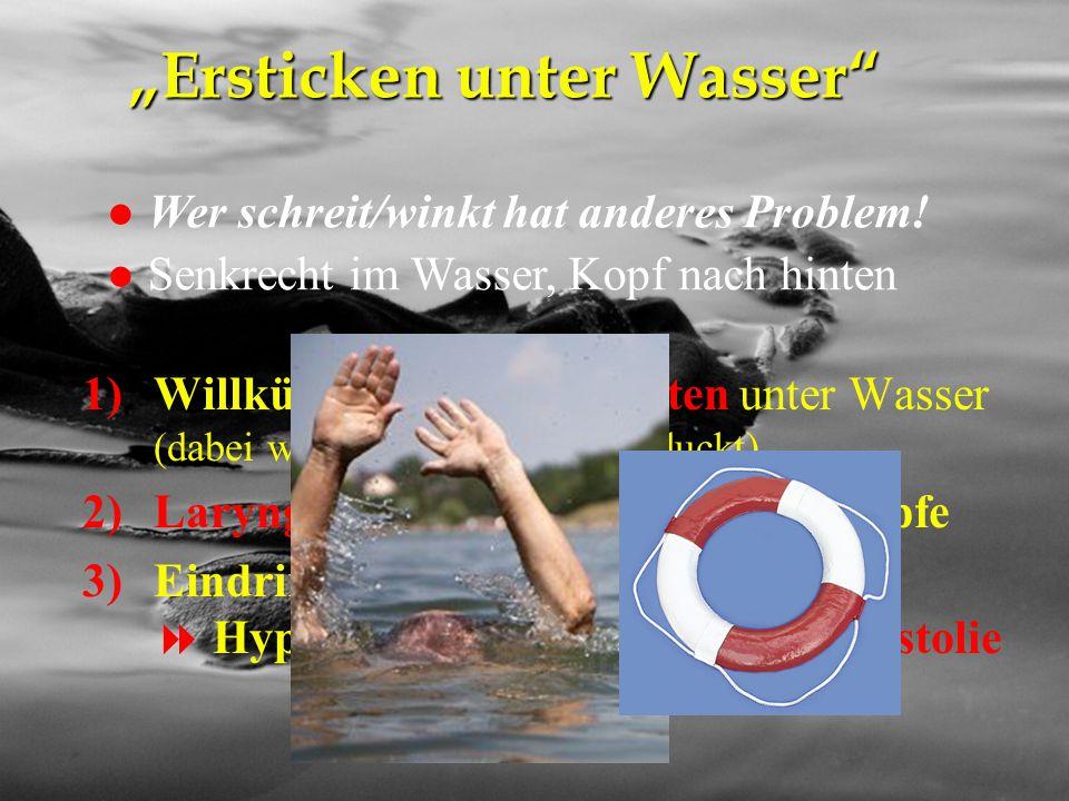 """""""Ersticken unter Wasser"""