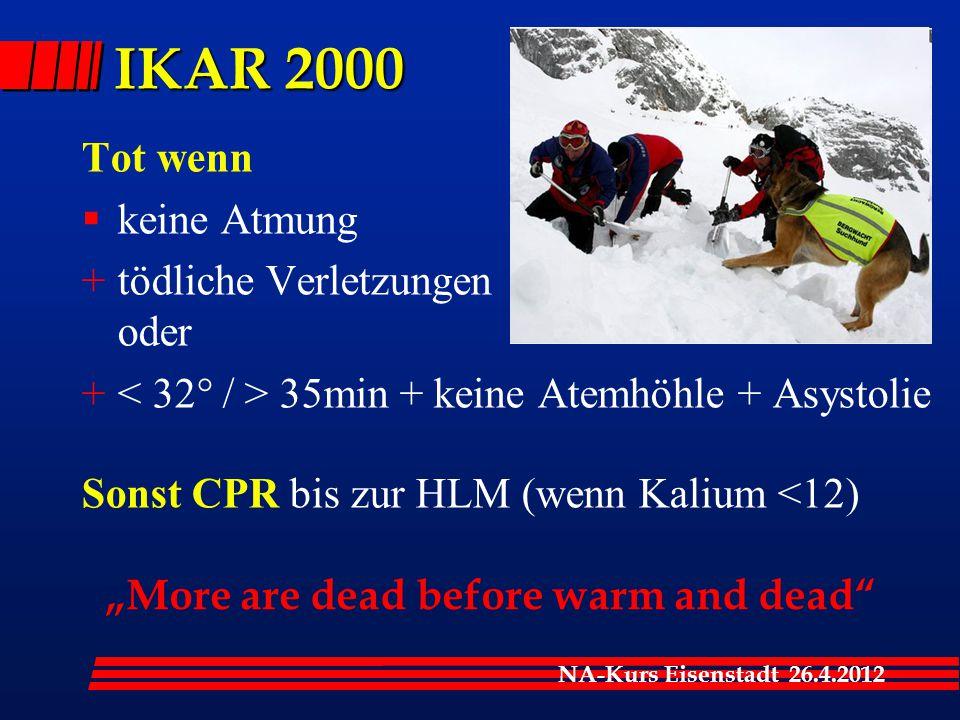 IKAR 2000 Tot wenn keine Atmung tödliche Verletzungen oder