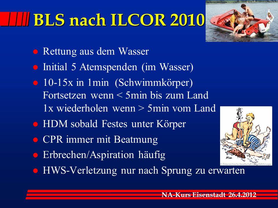 BLS nach ILCOR 2010 Rettung aus dem Wasser