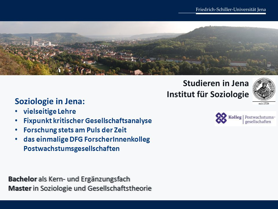 Institut für Soziologie Soziologie in Jena: