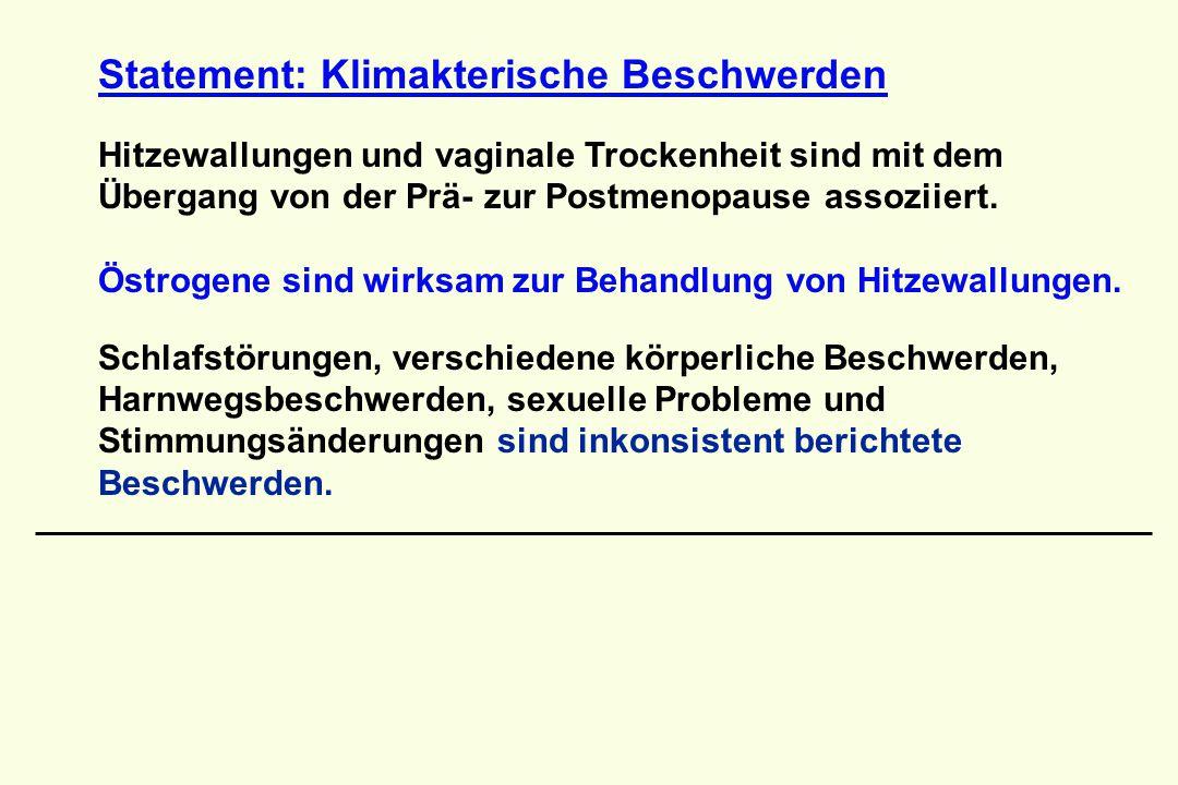 Statement: Klimakterische Beschwerden