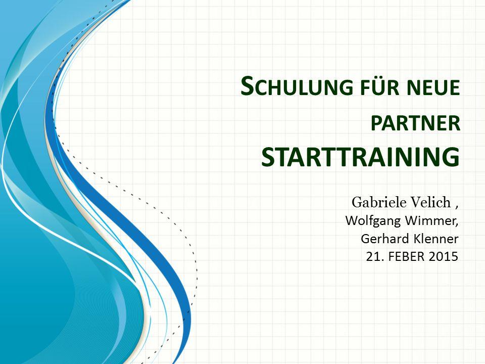 Schulung für neue partner STARTTRAINING