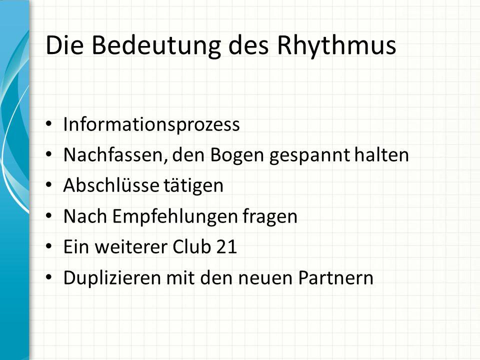 Die Bedeutung des Rhythmus