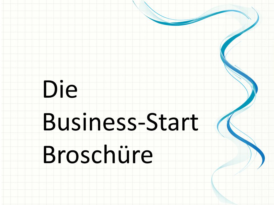 Die Business-Start Broschüre