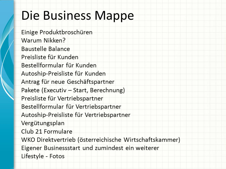 Die Business Mappe