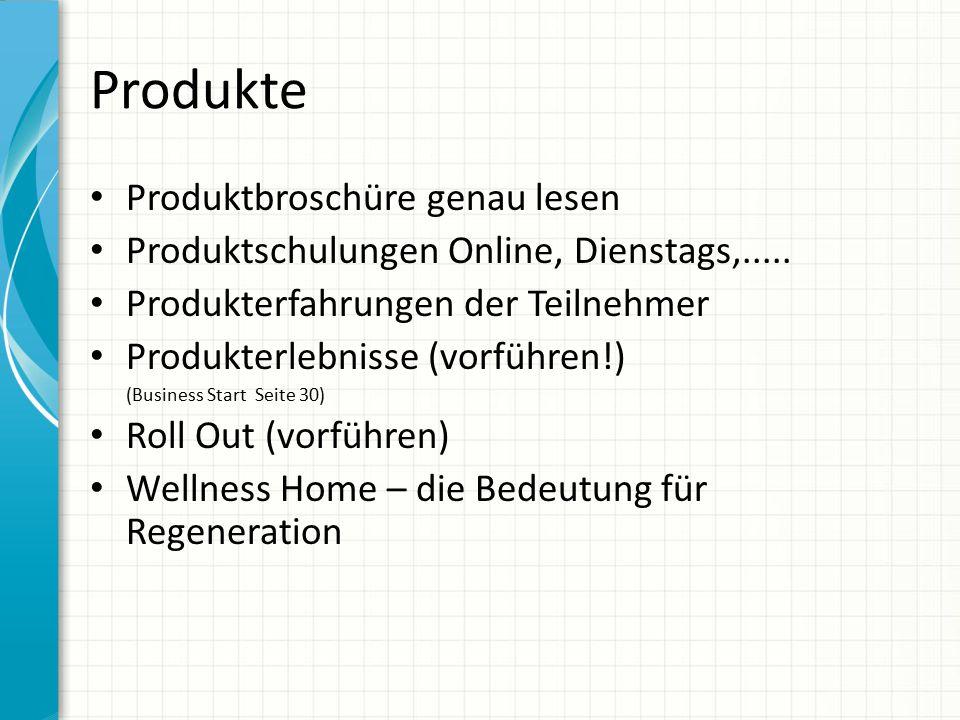 Produkte Produktbroschüre genau lesen