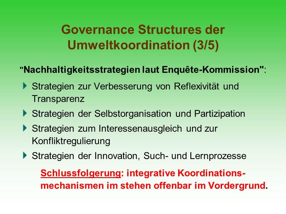 Governance Structures der Umweltkoordination (3/5)