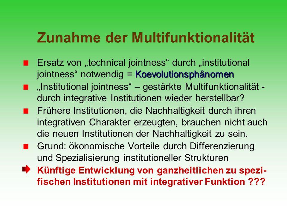 Zunahme der Multifunktionalität
