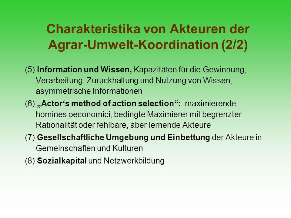 Charakteristika von Akteuren der Agrar-Umwelt-Koordination (2/2)