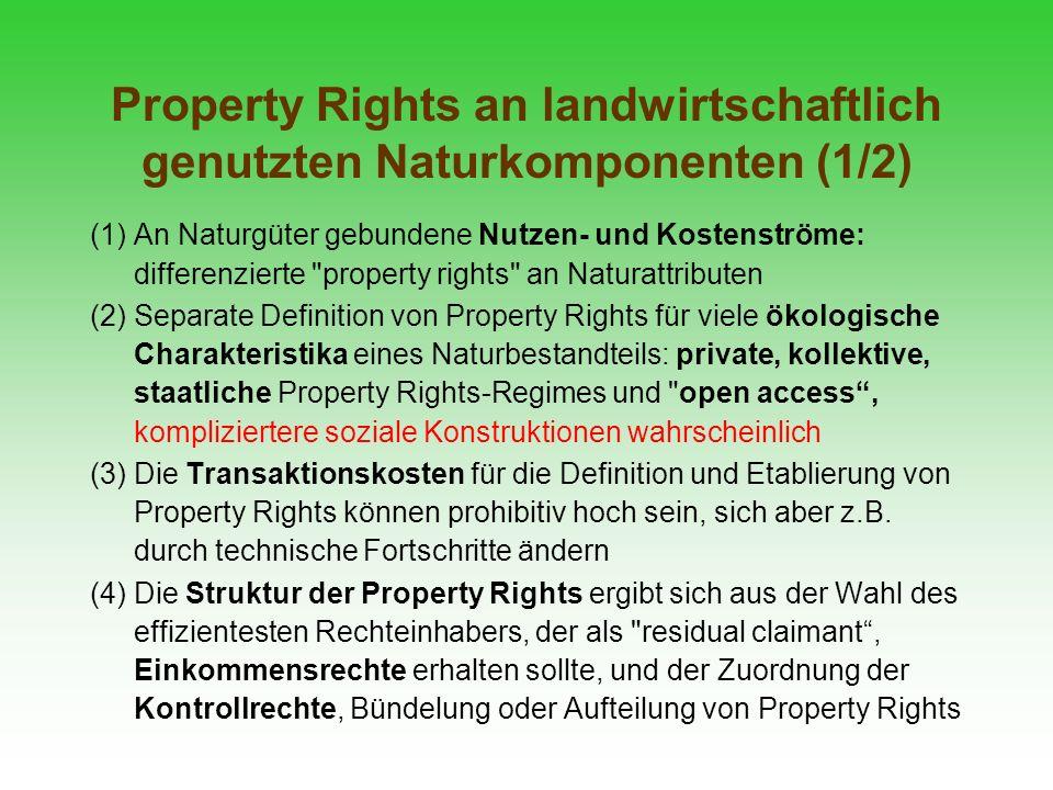 Property Rights an landwirtschaftlich genutzten Naturkomponenten (1/2)