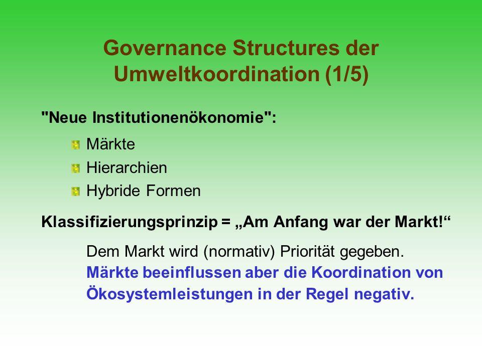 Governance Structures der Umweltkoordination (1/5)