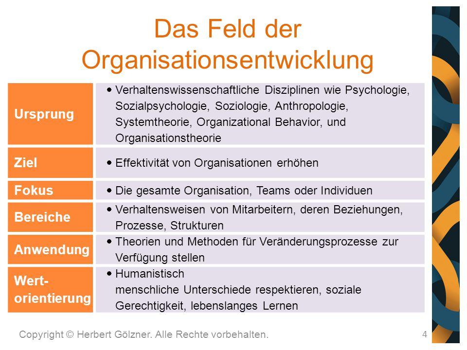 Das Feld der Organisationsentwicklung