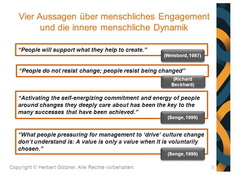 Vier Aussagen über menschliches Engagement und die innere menschliche Dynamik