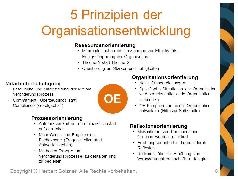 5 Prinzipien der Organisationsentwicklung