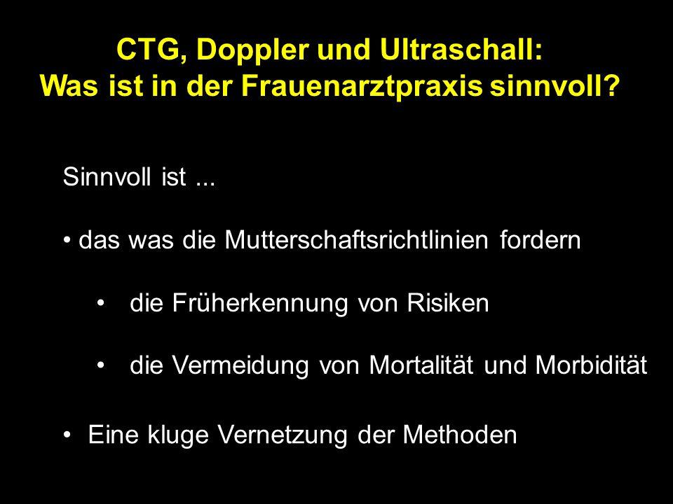 CTG, Doppler und Ultraschall: