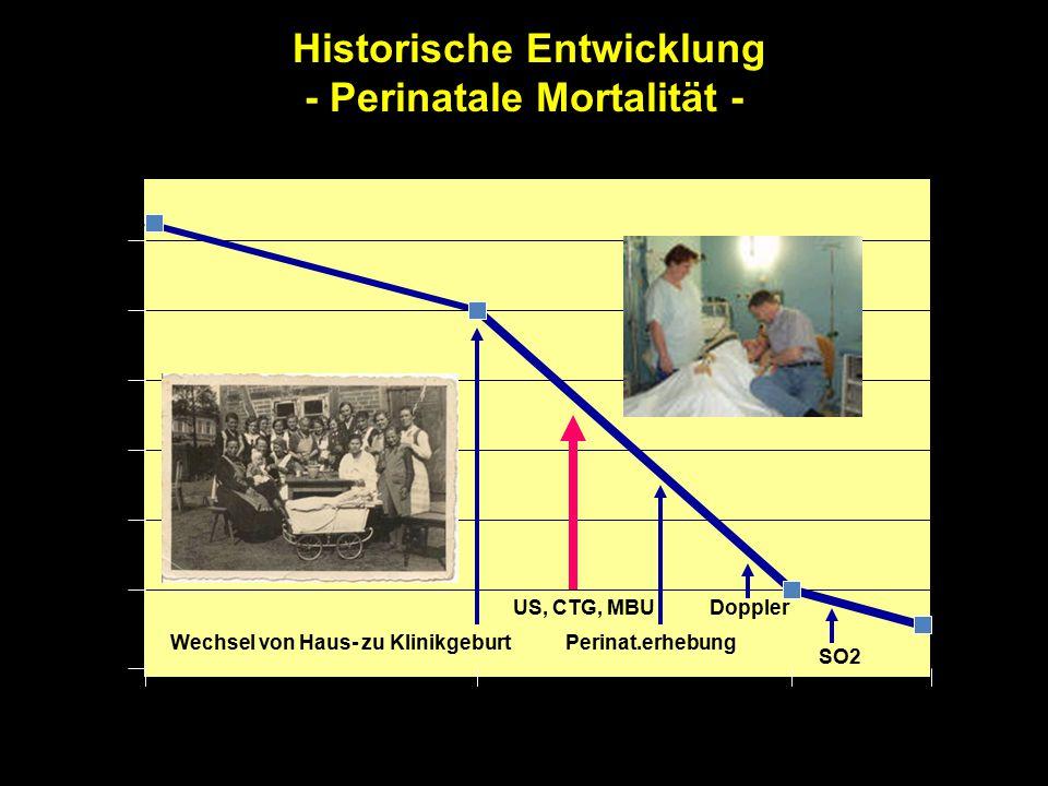Historische Entwicklung - Perinatale Mortalität -