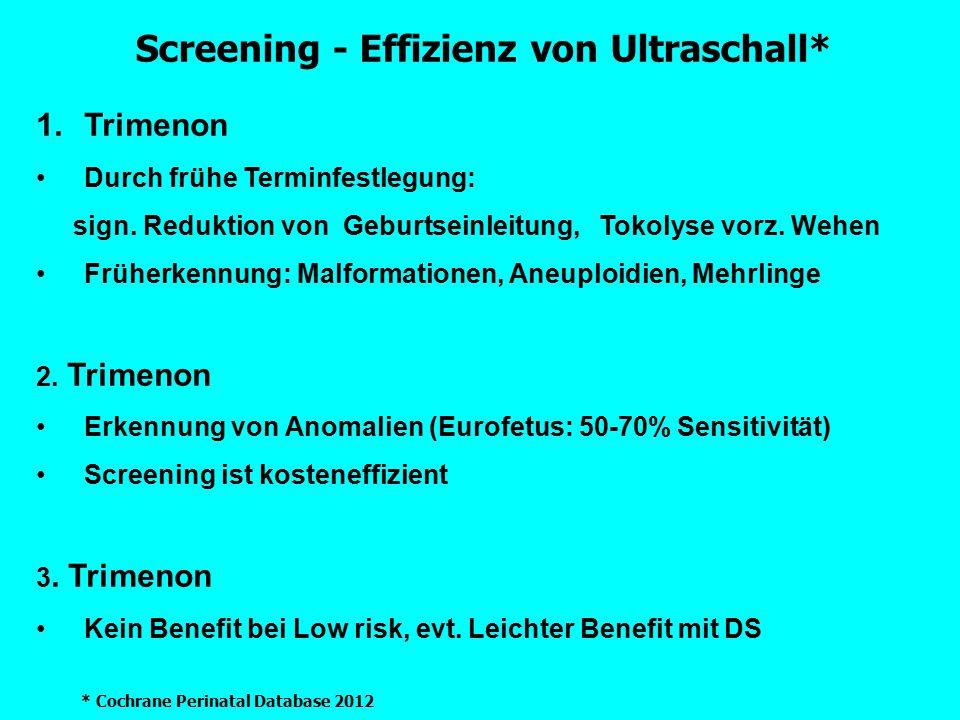 Screening - Effizienz von Ultraschall*