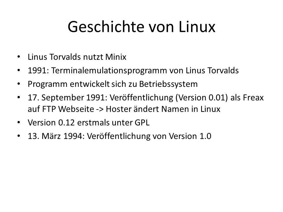 Geschichte von Linux Linus Torvalds nutzt Minix