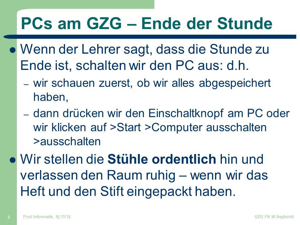PCs am GZG – Ende der Stunde
