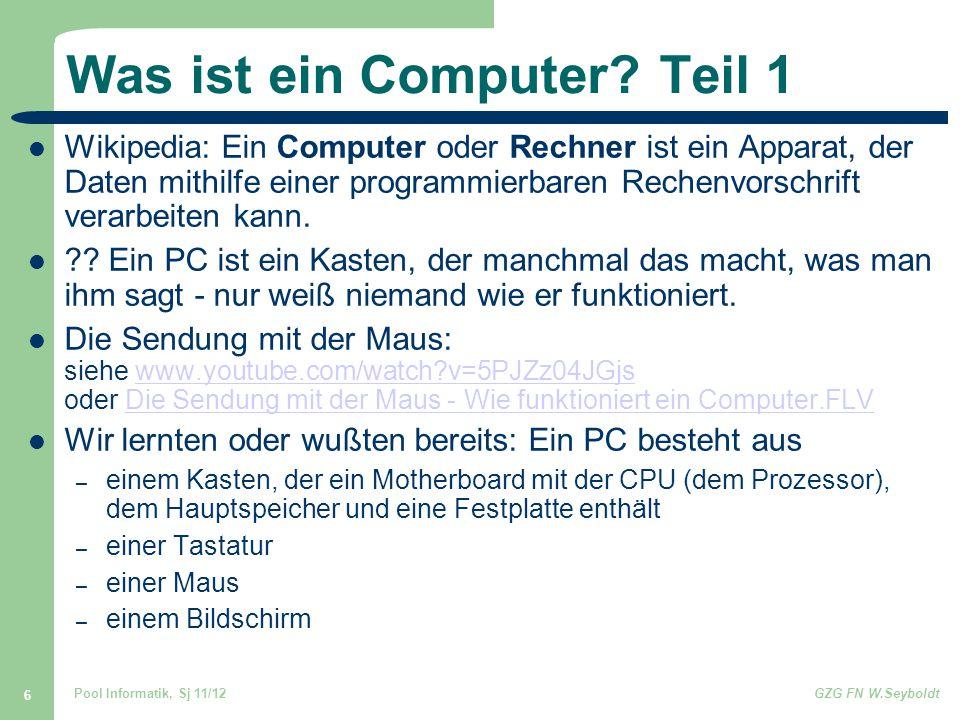 Was ist ein Computer Teil 1
