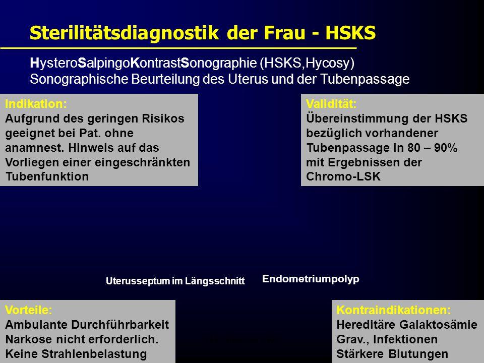 Sterilitätsdiagnostik der Frau - HSKS