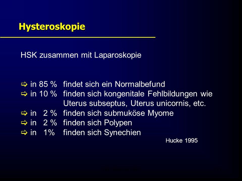 Hysteroskopie HSK zusammen mit Laparoskopie