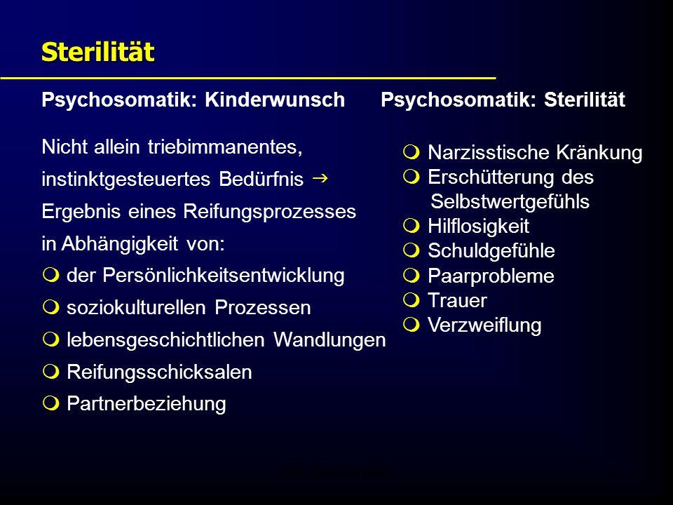 Sterilität Psychosomatik: Kinderwunsch Psychosomatik: Sterilität