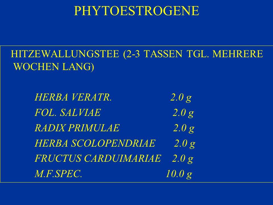 PHYTOESTROGENE HITZEWALLUNGSTEE (2-3 TASSEN TGL. MEHRERE WOCHEN LANG)