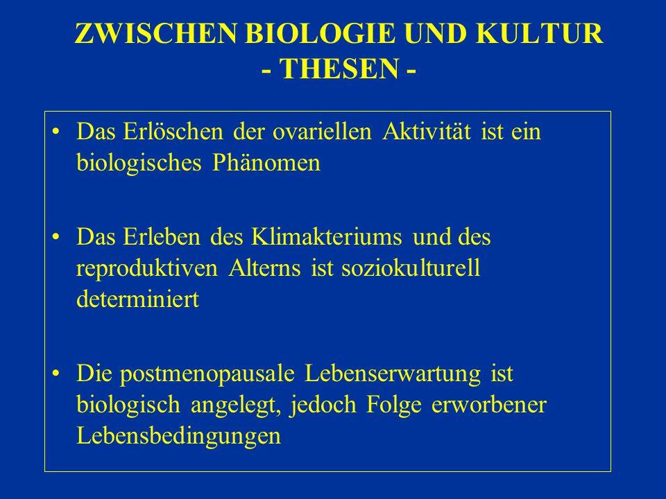 ZWISCHEN BIOLOGIE UND KULTUR - THESEN -
