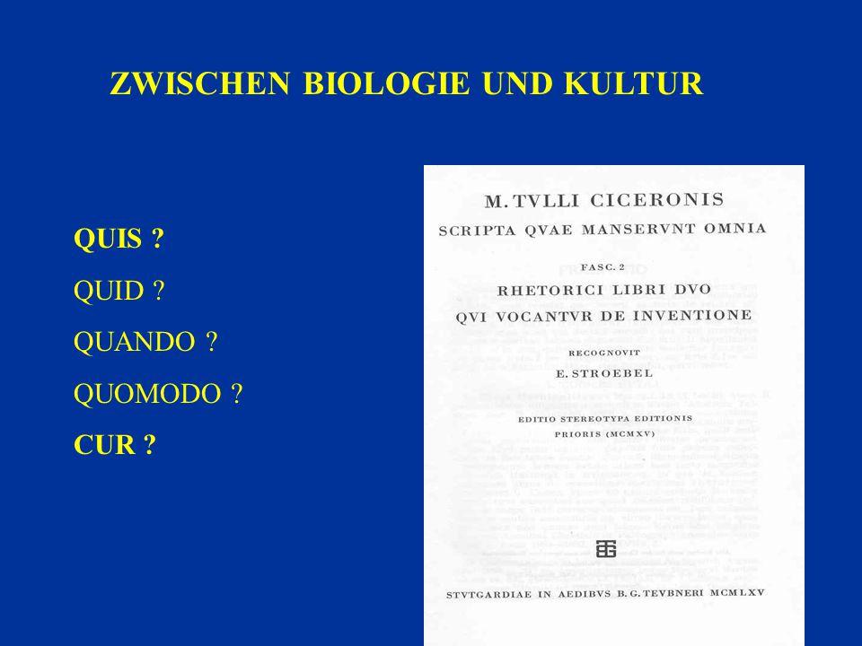 ZWISCHEN BIOLOGIE UND KULTUR
