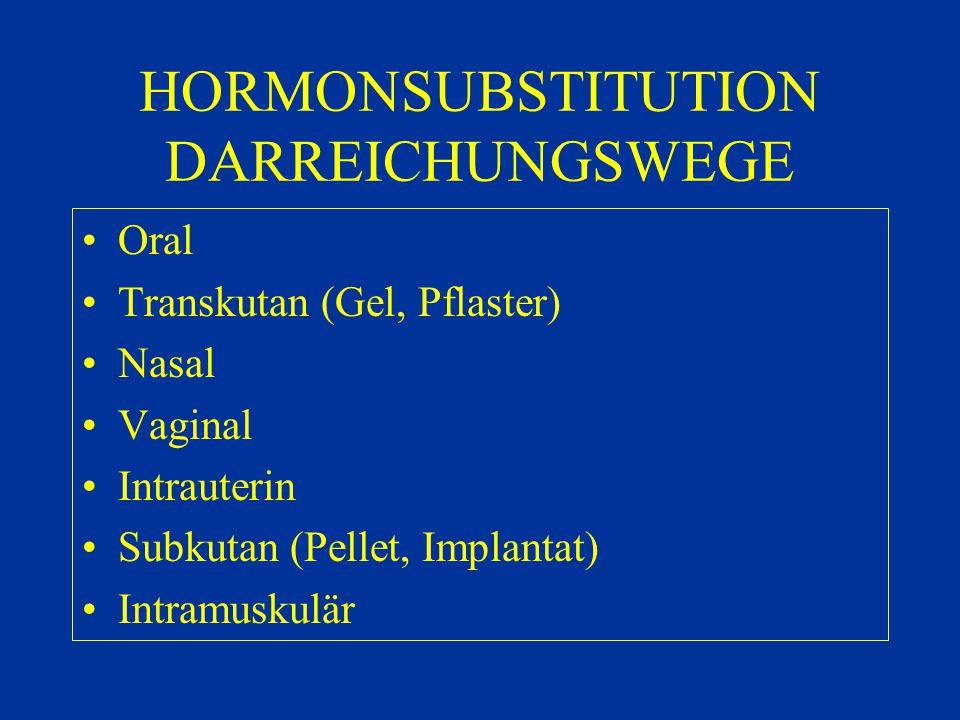 HORMONSUBSTITUTION DARREICHUNGSWEGE