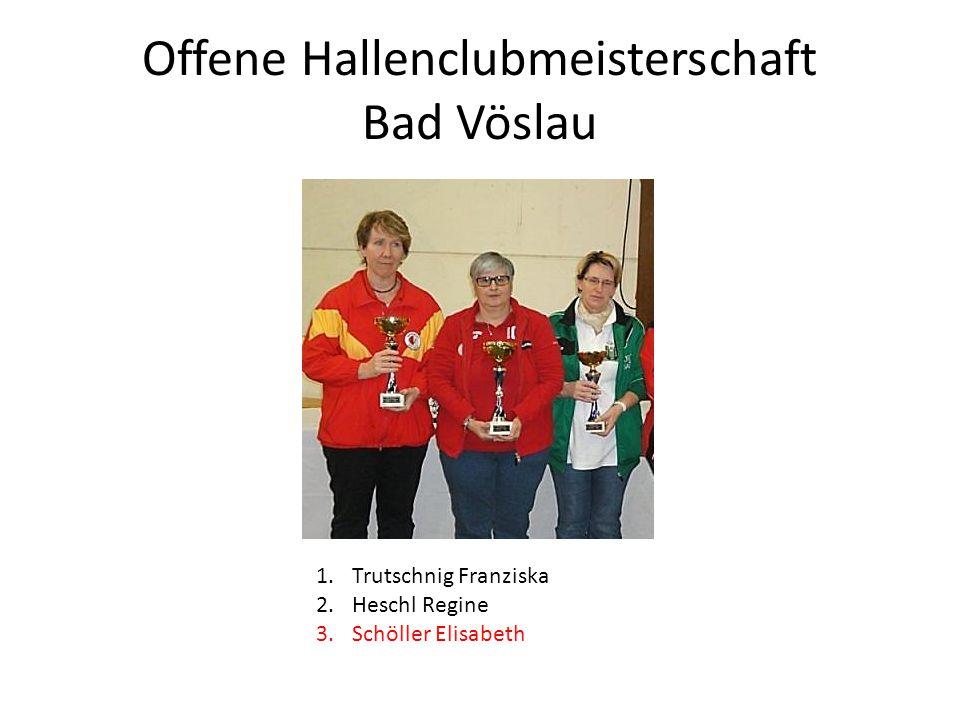 Offene Hallenclubmeisterschaft Bad Vöslau