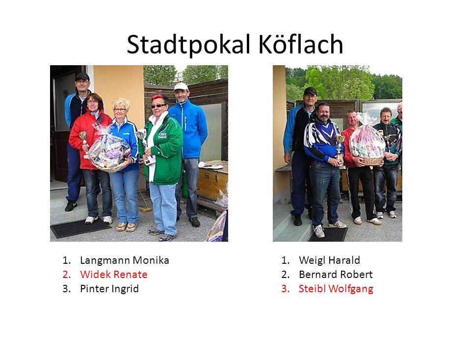 Stadtpokal Köflach Langmann Monika Widek Renate Pinter Ingrid