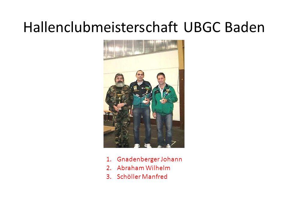 Hallenclubmeisterschaft UBGC Baden