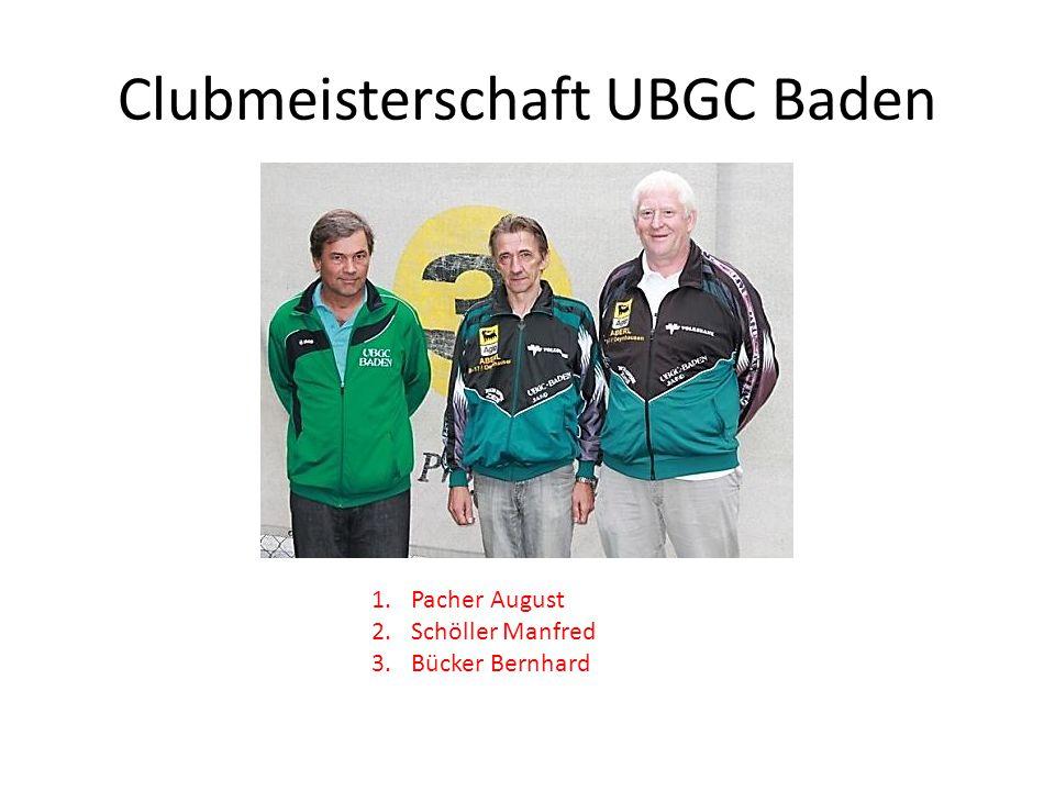 Clubmeisterschaft UBGC Baden