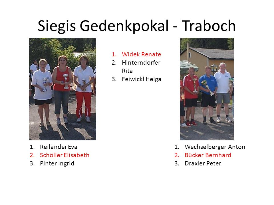 Siegis Gedenkpokal - Traboch