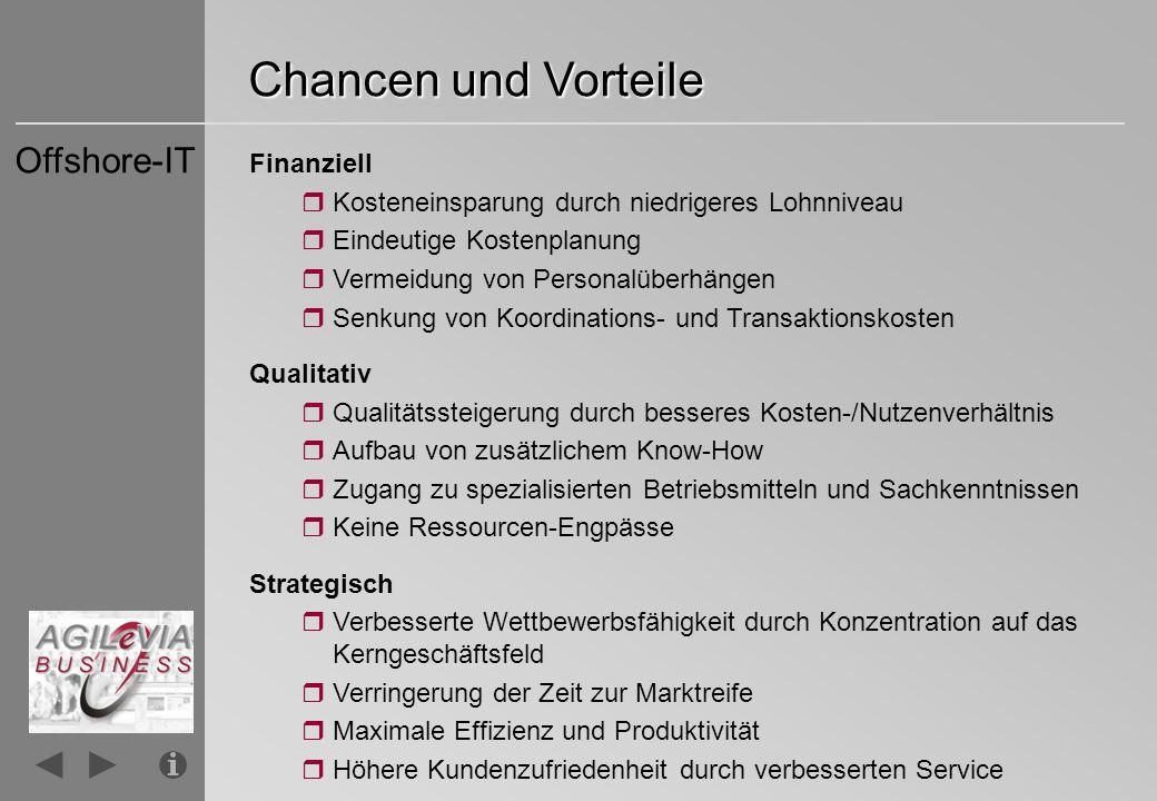 Chancen und Vorteile Offshore-IT Finanziell