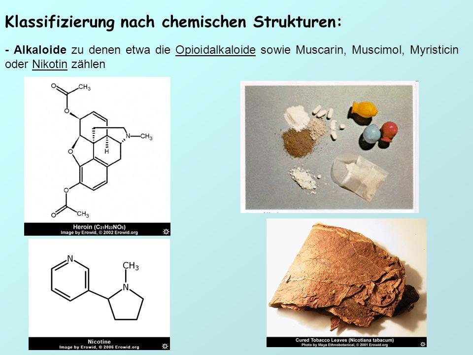 Klassifizierung nach chemischen Strukturen: