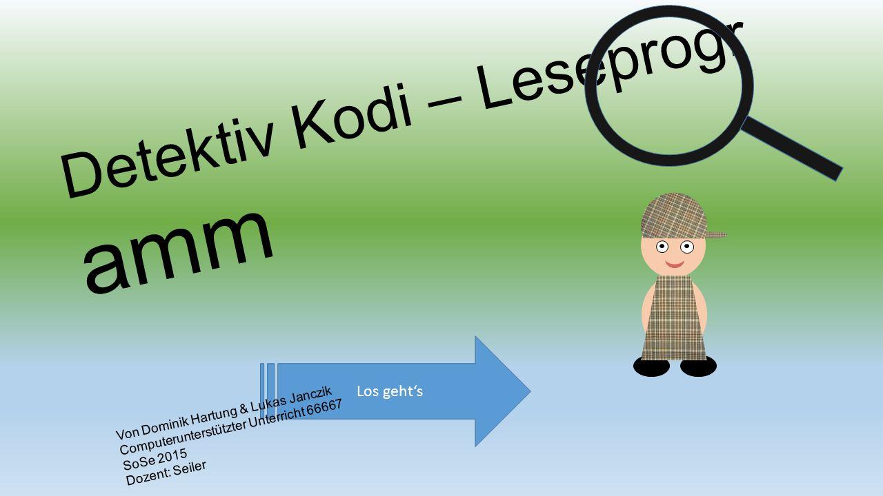 Detektiv Kodi – Leseprogr amm