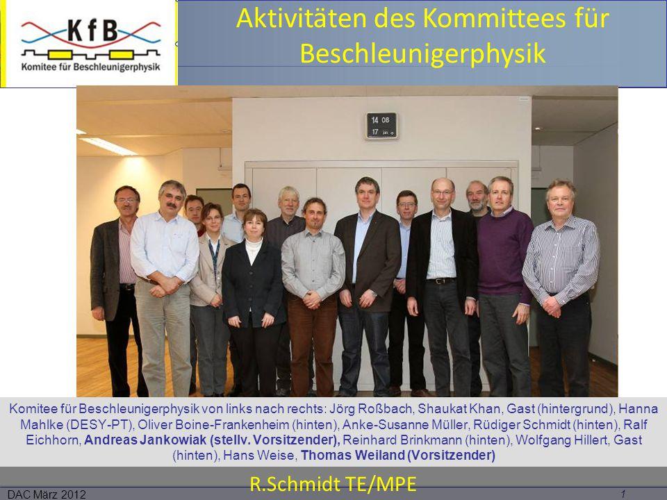 Aktivitäten des Kommittees für Beschleunigerphysik