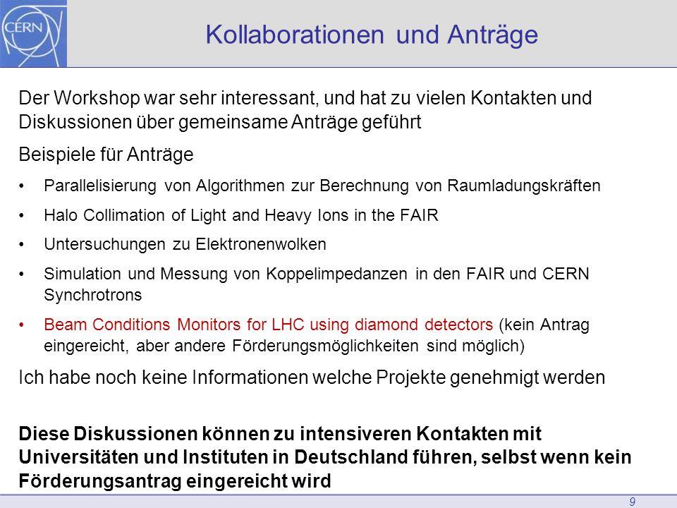 Kollaborationen und Anträge
