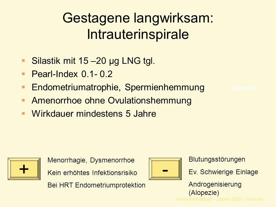 Gestagene langwirksam: Intrauterinspirale
