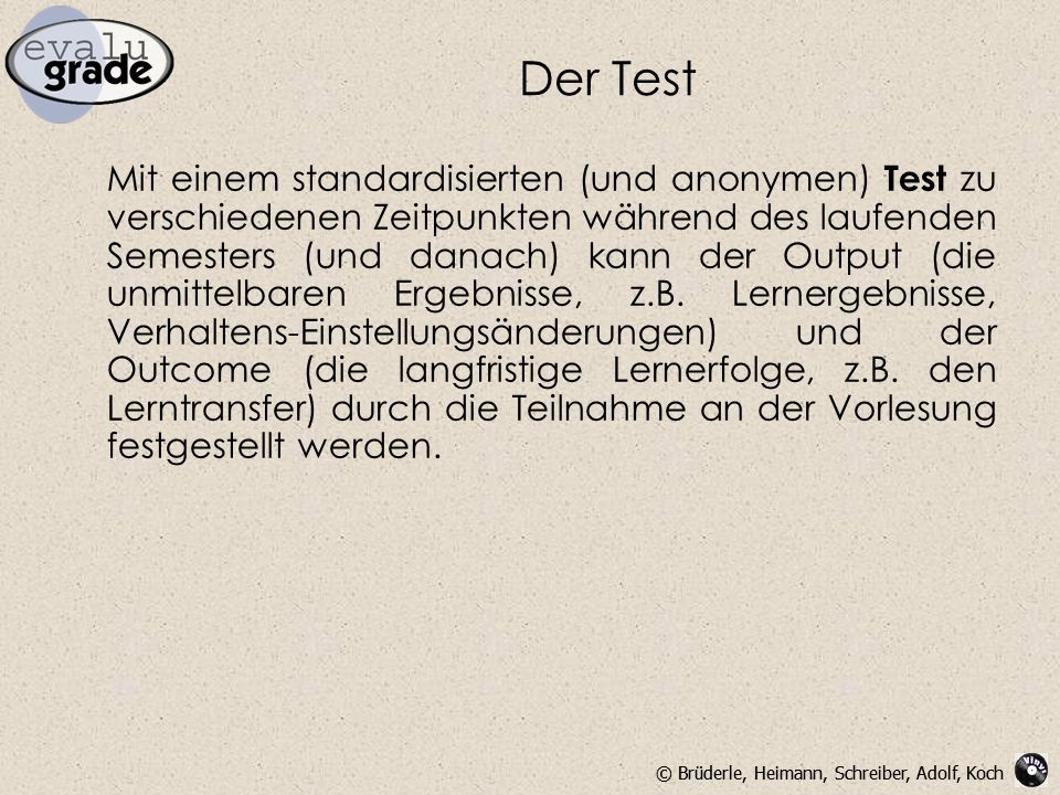 Der Test