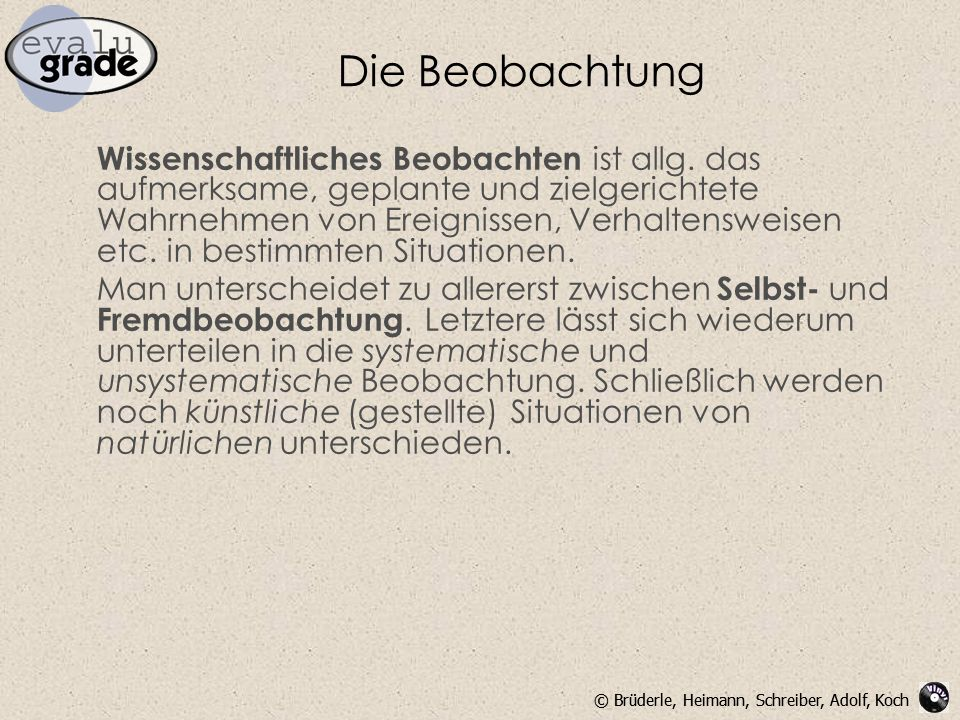 Die Beobachtung