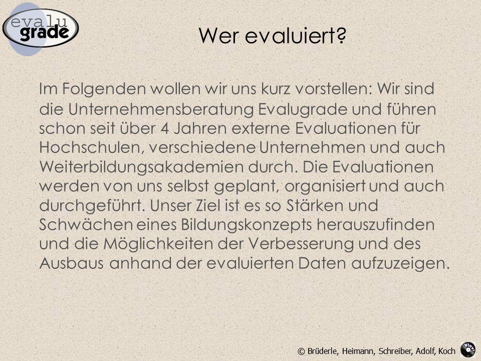 Wer evaluiert