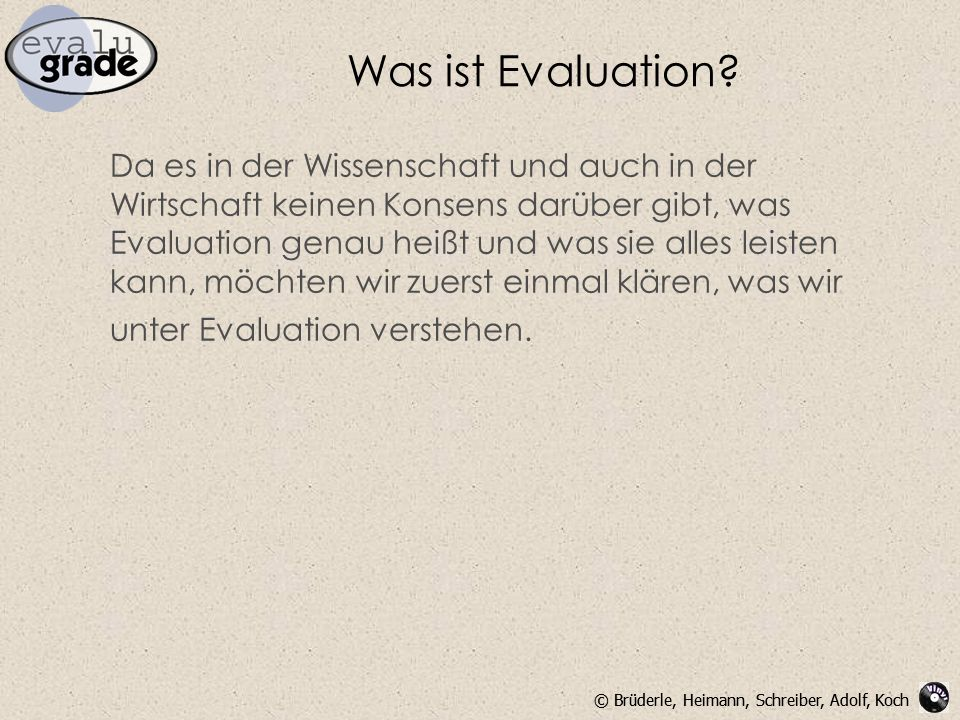 Was ist Evaluation