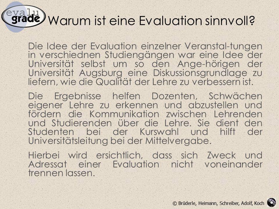 Warum ist eine Evaluation sinnvoll