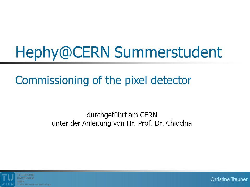 Hephy@CERN Summerstudent