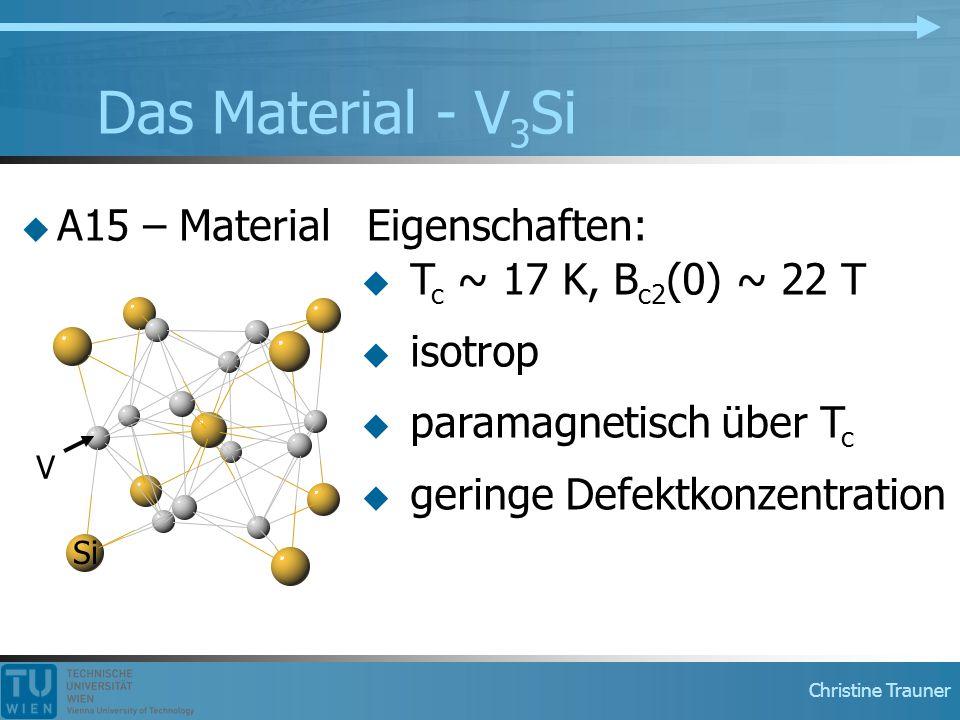Das Material - V3Si A15 – Material Eigenschaften: