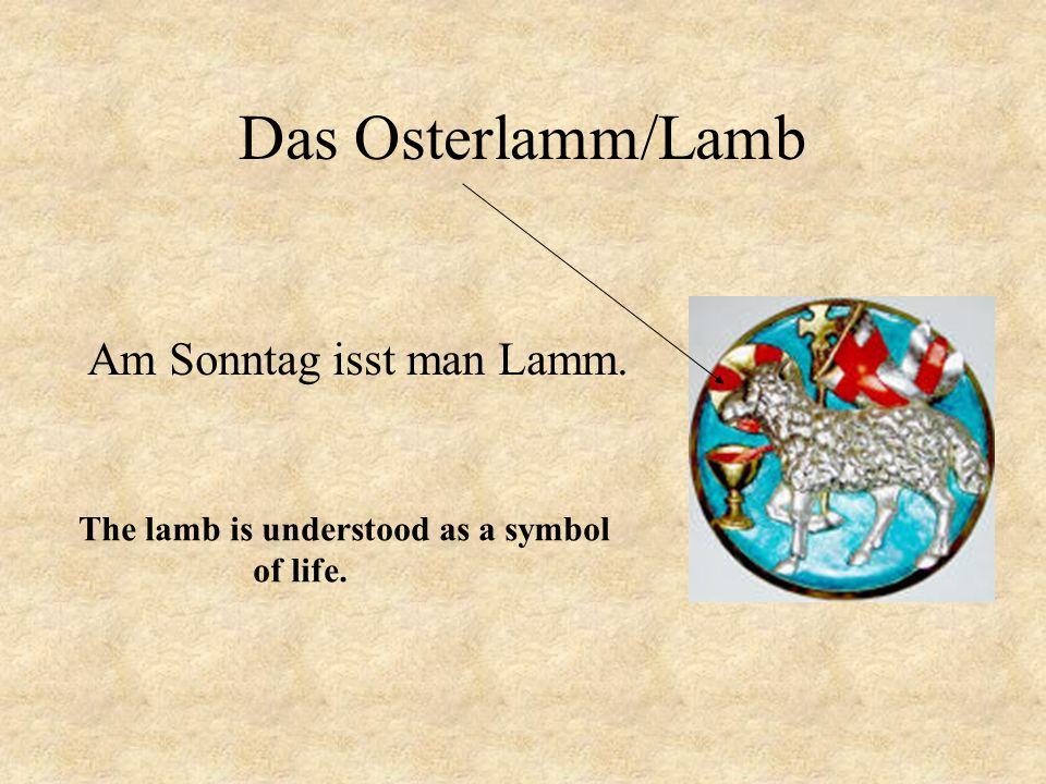 Das Osterlamm/Lamb Am Sonntag isst man Lamm.